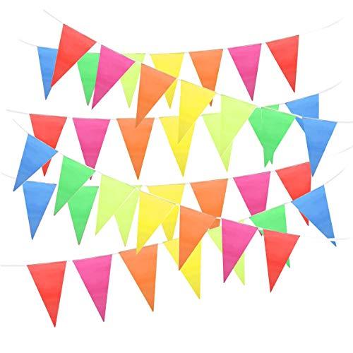 YaYuu Bandera Banderín, Bunting Banderas Nylon Triángulo para la Ceremonia Decoración de...