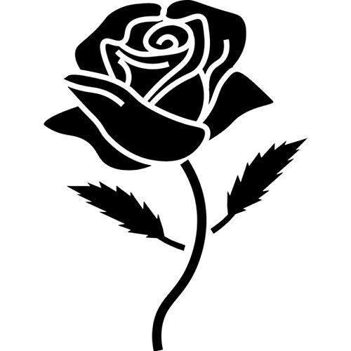 Zemn Wandaufkleber Fenster Wand Auto Display Retro Rose Marathon Läufer Motorrad Blume Silhouette Aufkleber Vinyl Aufkleber Handwerk 11,2 * 15 cm (Marathon Bilderrahmen)