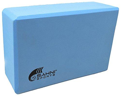 Sahni Sports Foam Brick Yoga Blocks, 9 x 6 x 3 inches (Blue)