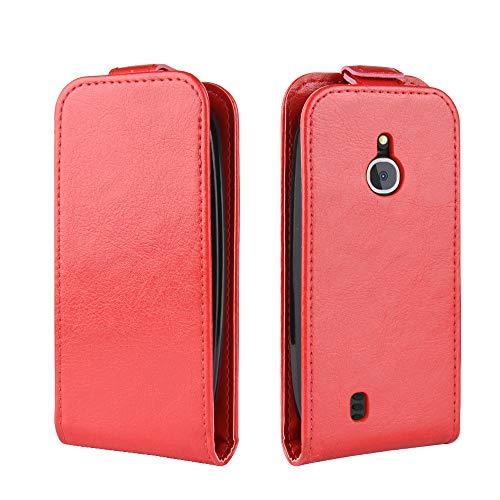 Happon Custodia Nokia 3310 3G 4G, Ultra Sottile Protettiva a Libro di Pu Pelle Case Portafoglio con Carta Fessura, Funzione Stand, Antiurto Morbido Cover per Nokia 3310 3G 4G (Red)