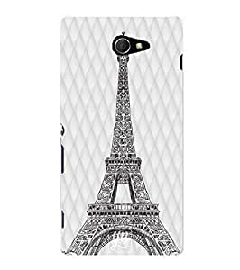 YuBingo Designer Printed Plastic Mobile Back Case Cover Panel for Sony Xperia M2 ( Eiffel Tower )
