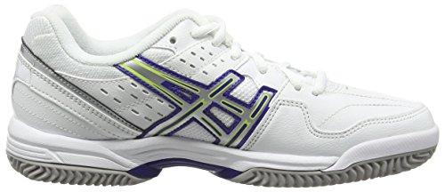 Asics Gel-dedicate 3 Clay - Scarpe da Tennis donna Bianco (White/Royal Blue/Silver 0143)
