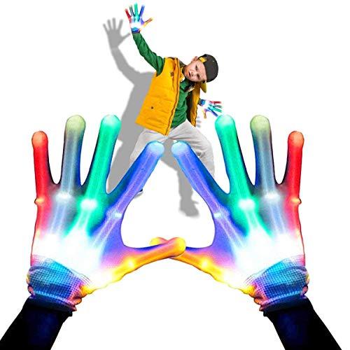 e Light Up Hand Handschuhe Multicolor Shining Modes Rave Handschuhe für Vereine Geschenke für Teenager Jungen Mädchen Kinder Party Favors ()