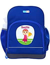 UniQBees Personalised School Bag With Name (Little Life Pre-School Backpack-Blue-Tennis 5)