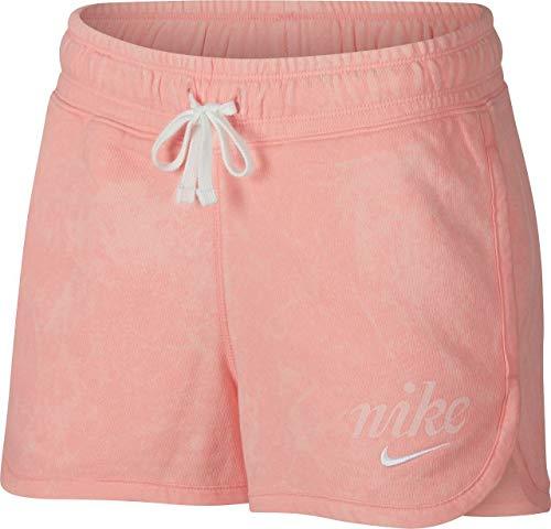 Nike Damen W NSW WSH Shorts, Bleached Coral/Summit White, S