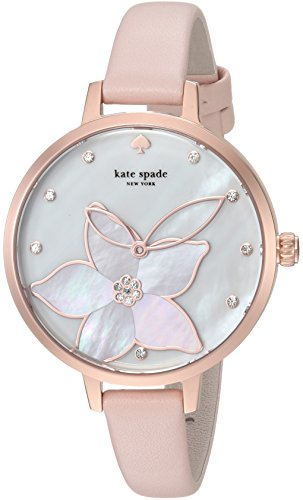 Kate Spade New York Women's Analog Japanese-Quartz Watch with Leather-Calfskin Strap KSW1302
