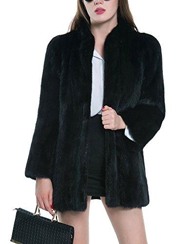 Penggeng donna colore solido cardigan cappotto manica lunga soprabito windbreaker giacca nero 3xl