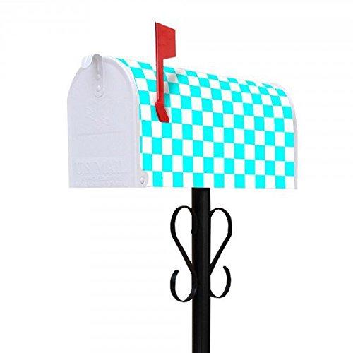 banjado-buzon-de-buzon-americano-us-mail-box-16-x-22-x-48-cm-con-motif-y-soporte-karo-turkis