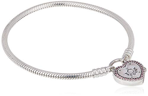 PANDORA Damen-Charm-Armband 925 Sterlingsilber zirkonia 596586fpc19