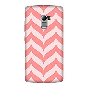 Abhivyakti Pattern Pink ZigZag Hard Back Case Cover For Lenovo A7010