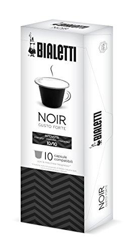 Bialetti 97000001 Nespresso-Kapseln Noir - kräftig und intensiv, 10 Stück