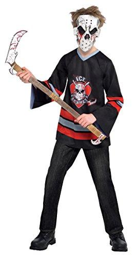 KINDERKOSTÜM - HORROR PLAYER - Größe 174 cm ( 14-16 Jahre (Kostüme Jungen Eishockey Für)