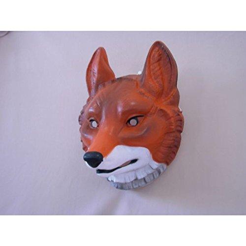 Amakando Fuchsmaske Tierverkleidung Tier Maske Schlauer Fuchs Fuchs Maske Märchen Verkleidung