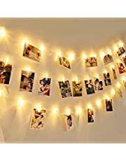 BLINK LED Light Photo Clips String Light Battery Operated (Warm Colour, 1 Piece 10 Clips)