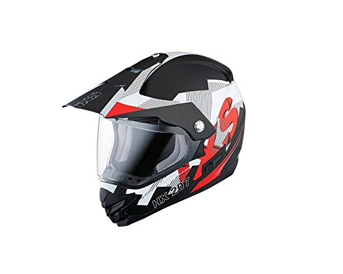 Motocrosshelm IXS HX 207 GLOBE schwarz-weiß matt Gr. S