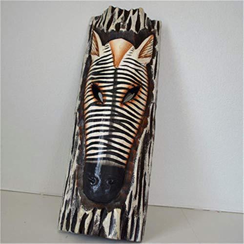 WDDqzf-Ornaments Escultura Figurilla 30Cm Máscaras De Punteado De Estilo Asiático Del Sudeste Asiático Decoraciones De Pared Para El Hogar Retro Talla De Madera Colgantes De Pared De Animales X2264, M