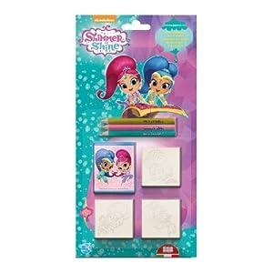 Multiprint Shimmer & Shine - Juegos de Sellos para niños (Multicolor, Caucho, Madera, 3 año(s), Italia, 140 mm, 20 mm)