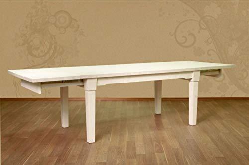 casamia Esstisch Esszimmer-Tisch 180 x 95 mit 2 Vorkopfauszügen Pinie massiv lipizano