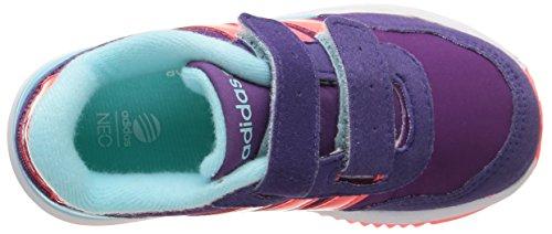 Adidas V Jog Cmf Inf Scarpe per bambini, Unisex - bambino Tribe Purple S14/Flash Red S15/Clear Aqua