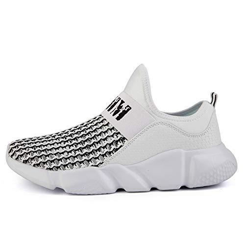 6fcf5d031ae86 Hasag Super Run Runing Shoes para Hombre Zapatos cómodos para Deportes al  Aire Libre para Hombres Zapatillas para Aumentar de Altura,Mesh Grey,7.5