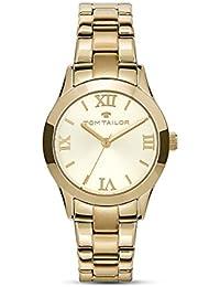 Tom Tailor Mujer Reloj Cuarzo Acero inoxidable oro plata 5416202