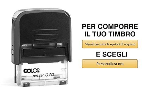 Timbro Personalizzato Autoinchiostrante Scegli e Componi Online il Testo Colop Printer C 20 Ufficio Scuola Lavoro 4 Righe