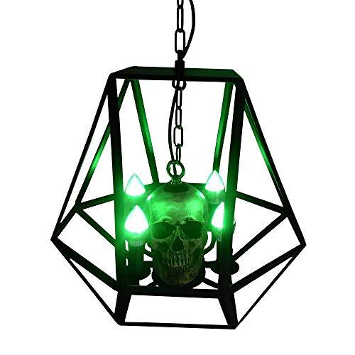 htender Kopf-Leuchter-Geist-Festival-Dekoration, die den hohlen Eisenkäfig beleuchtet Spukhaus-Wohnzimmer-Schlafzimmer-Studien-Eingangs-Villa-Befestigung A +++ beleuchtet ● ()