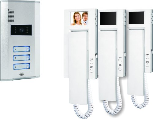 ELRO VD63 3 Apartment Video Door Intercom with 3 Indoor Units
