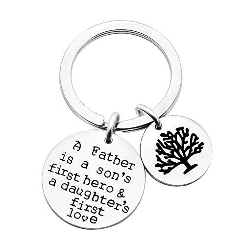 Portachiave in argento, regalo per papà con scritta