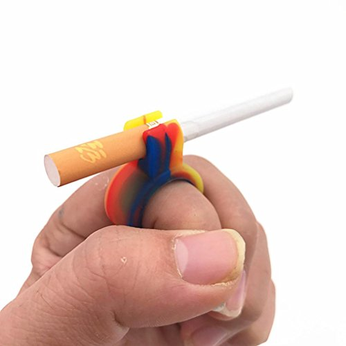 Price comparison product image Smokeey Gaming Ring,KIMODO 1 PC Silicone Ring Finger Hand Rack Cigarette Holder For Regular Smoking Smoker (Multicolor A)
