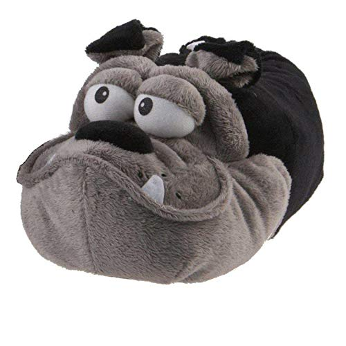 SaMS Animal Slippers Black Grey Funny Funny Warm, HGB SG