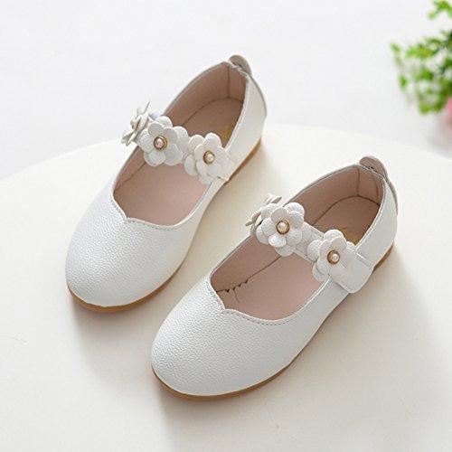 Chaussure Princesse Fille Ballerine Fancyland Sandale Cérémonie Mariage Simili Cuir Souple Party Pompes Blanc