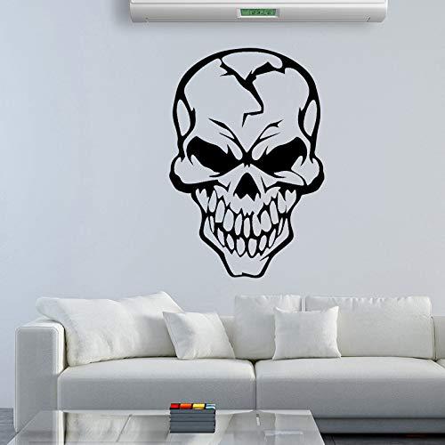 Geschnitzte Schädel Wandkunst Aufkleber Wandkunst Aufkleber Wandbilder Für Wohnkultur Home Party Decor Wallpaper 43 cm X 63 cm