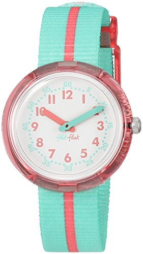 Flik Flak Mädchen Analog Quarz Uhr mit Stoff Armband FPNP020