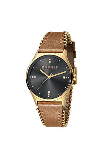 Esprit Womens Analogue Quartz Watch with Leather Strap ES1L032L0035