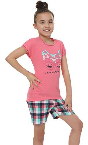 Italian Fashion IF Mädchen Pyjama Olivia 0227 (Rosa, 98-104) (Olivia Schlafanzug)
