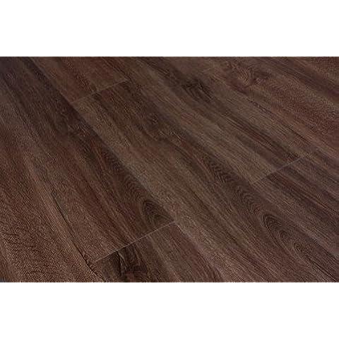 5 mm de madera de roble ahumado Click vinilo de 152 x 1220 mm