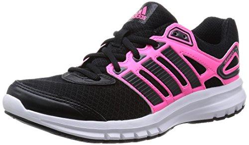 adidas Damen Duramo 6 Laufschuhe Schwarz (Solar Pink Core Black), 37 1/3 EU