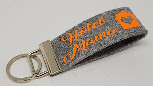 Schlüsselanhänger Filz -Hotel Mama-