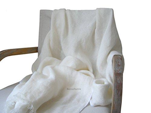 Manta decorativa de lino natural, suave y ligera, Plaid para sofá y...