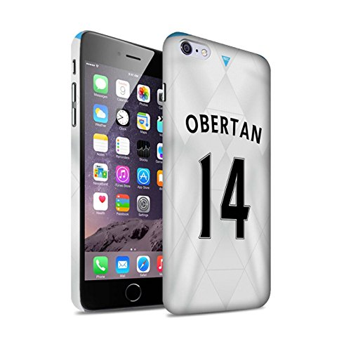 Offiziell Newcastle United FC Hülle / Matte Snap-On Case für Apple iPhone 6+/Plus 5.5 / Pack 29pcs Muster / NUFC Trikot Away 15/16 Kollektion Obertan