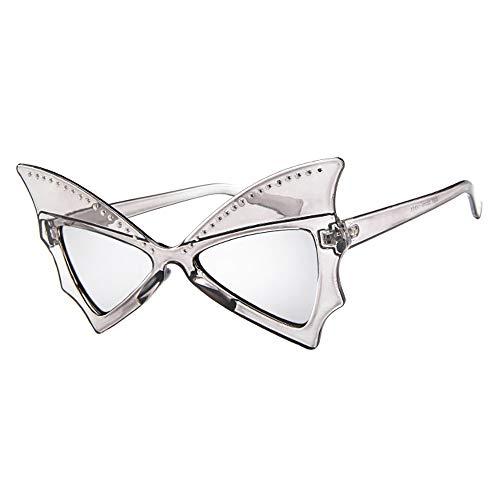 Lomsarsh 1 Paar Retro Fledermausform Niet Brille Unisex Sonnenbrille Brillen Sonnenbrille UV-Schutz Sonnenbrille Sommer Strandurlaub Sonnenbrille für Frauen - Multicolor