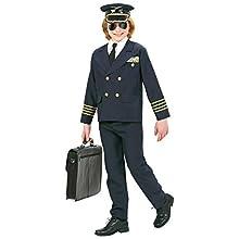 Children's Heavy Fabric Pilot Costume Medium 8-10 yrs (140cm) for Wartime Aviation Airline Fancy Dress