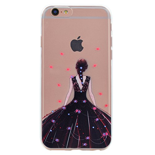 Per iPhone 6 Plus / iPhone 6S Plus Cover , YIGA mondo ragazza Sottile Cristallo Chiaro Case Trasparente Silicone Morbido TPU Custodia per Apple iPhone 6 Plus iPhone 6S Plus (5.5) TT20