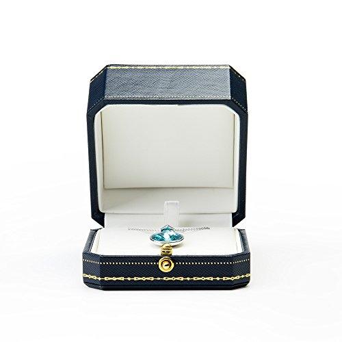 Oirlv PU leder achteckige form schmuckschatulle mit Schnalle für verpackung ring halskette armreif Halter hochzeit ring box (Hängende Box)