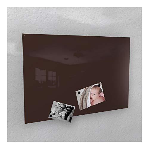 Colours-Manufaktur Magnetwand - braun Schokoladenbraun kolonial-Farben glänzend * RAL 8017 * Hochglanz - Verschiedene Größen - 40 x 60 cm ; 50 x 80 cm ; 60 x 90 cm ; 50 x 110 cm - (50 x 110 cm)