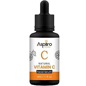Aspiiro Natural Vitamin C Serum For Face Whitening, Pigmentation, Radiant Skin & Anti Ageing - 30 ml | Serum For Face Glowing | Face Serum For Glowing Skin.