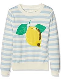 Yumi Lemon Intarsia Jumper (Pale Blue), Suéter para Niños