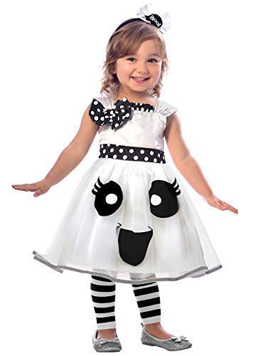 Fancy Me Mädchen Kleinkind Hübsch Weiß Ghost Tutu Kleid & Stirnband Halloween Kostüm Kleid Outfit 2-6 Jahre - Weiß, 2-3 Years (Ghost Tutu Kleid)