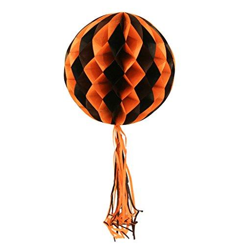 Dabixx Creative Paper Honeycomb Laterne Dekorationen Hängende Verzierung Halloween SuppliesOrange